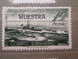 Испания 1938 Подводная почта между Барселоной и Махоном(*)