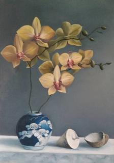 ''Орхидея''. Масло, холст.