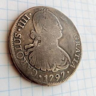 Мексика 8 реалов серебро 1797 Карлос 4