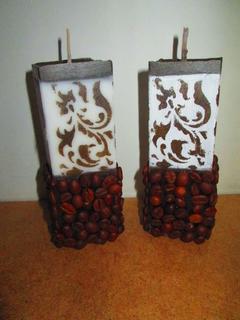 Кофейные ароматические декоративные свечи- подарок, сувенир, handmade