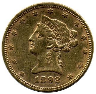 10 Долларов 1892г США 171 Violity 187 Auction For Collectors