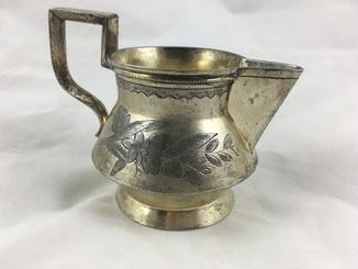 Молочник серебряный в золочении 84 пробы 1895