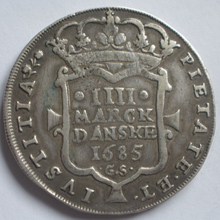 4 Mark Dansk 1685 Christian V