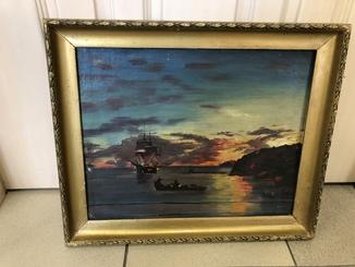 "Картина ""Корабль у берега"""