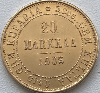 20 Markkaa 1903 года 171 Violity 187 Auction For Collectors