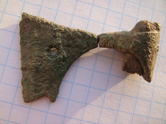 Амулет-топорик с частью топорища