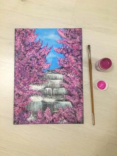 Водопад в цветении. Waterfall in bloom