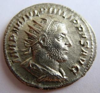 Филипп I Араб, серебряный антониниан (245-247 гг. н.э.)