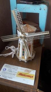 Мельница.музыкальный светильник сувенир