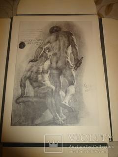 1949 Альбом рисунков обнаженных мужских тел Огромного формата 58 на 42 см.