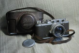 ФЭД Зоркий, 1948 год № 01595, объектив ЗК 1948 год №004452, Красногорский.