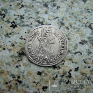 15 крейцеров Венгрия Леопольд Габсбург 1676 год
