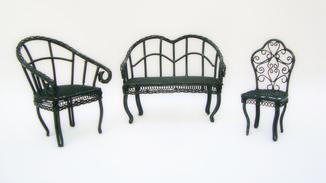 Коллекционная миниатюрная мебель. Ручная работа. Металл. Франция