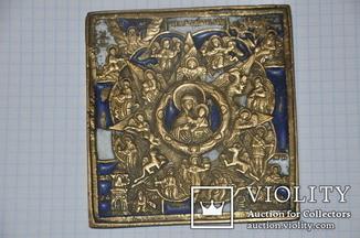 Икона Неопалимая Купина в емалях