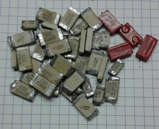 Содержание серебра в конденсаторах фото
