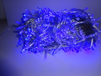 Новорічна гірлянда«Нитка» синього кольору на 500  лампочок LED .