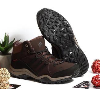 0264 Спортивные ботинки Adidas Коричневые Натуральный Нубук 41 размер 26 см стелька