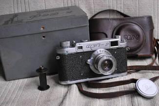 ФЭД-2, редкий , квадратное окно дальномера, № 004059, комплект.