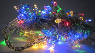 Новорічна гірлянда«Нитка» на 100 лампочок LED .Новогодняя гирлянда.