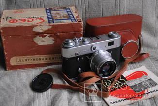 Фотоаппарат ФЭД-3, И-61, Юбилейный выпуск 50 лет Октября, упаковка, инструкция.