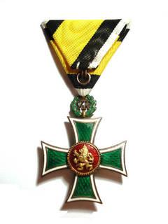 """Болгарский офицерский крест 1 класса """"За отличную XX службу""""."""