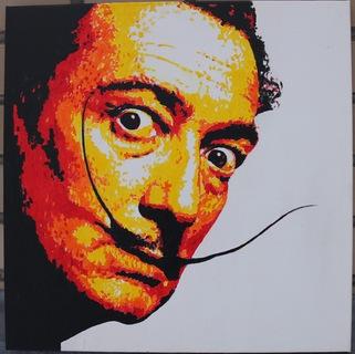 Холст, акрил, портрет Сальвадора Дали 50Х50 см