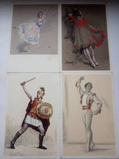 Открытки мастера ленинградского балета, открытки