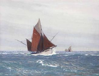 "Роберт Шмидт, Германия. ""Рыбацкая лодка в Бискайском заливе"""