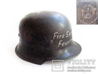 III REICH шлем каска пожарная М-34 Fire service feuerwehr пожарная служба