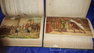 1886 История Испании в 2 томах 32.5х23 см.