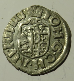 1/24 талера  1619  года Иоанна Георга I , курфюрста  Саксонии.
