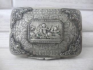Старинный дамский портсигар или табакерка ( Европа )
