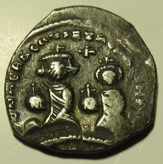 Двойной милиарисий императора Ираклия I и его сына Константина (612-641)