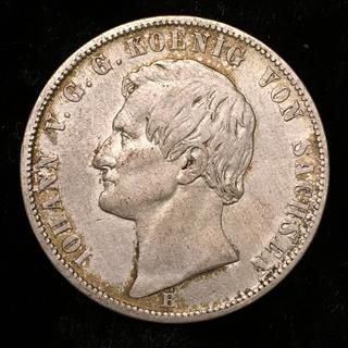 Саксония 1 талер 1868 год