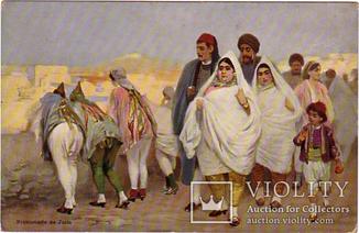 Тунис прогулка еврейкой семьи, Иудаика Евреи до 1917 г. оригинал
