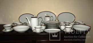 Сервиз 46 предметов.Тарелки бульонницы блюда салатники чашки клеймо Arzberg Германия