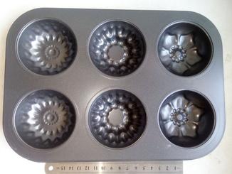 Форма металлическая для кексов 6 в 1 (1шт)