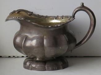 Серебряный молочник, 84 –ой пробы, СПБ, 1848 год, ювелир Сохка Томас.