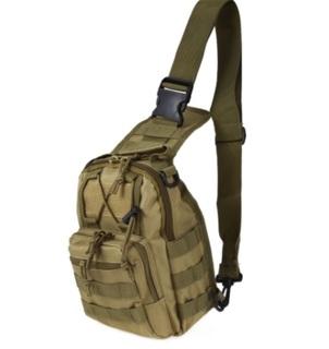 Сумка-рюкзак тактическая плечевая(Хаки).Блиц