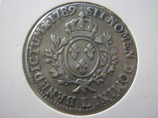 1 экю 1789 Франция