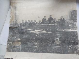 Фото плакат Ленин заседание Совета народных комиссаров с Лениным 1918 г.   650/580мм.