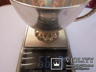 Изящная кружечка серебро 925, 66,18 грамм