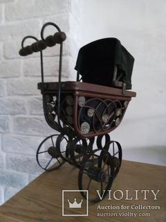 Винтажная в Викторианском стиле коляска для кукол