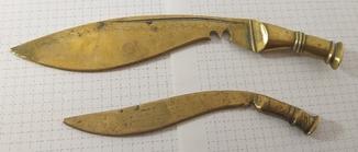 """Два бронзових ножа для писем """"Кукри"""""""