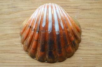 Мыло ручной работы -Морская раковина- с ароматом миндаля 78 г