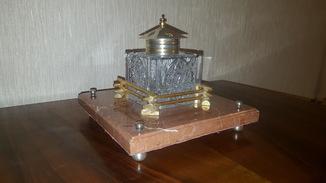 Русский письменный прибор в хрустале и серебре