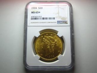 США 20 долларов 1904 г. NGC MS63+