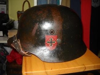 Венгерская каска .ВОВ. 68 размер.