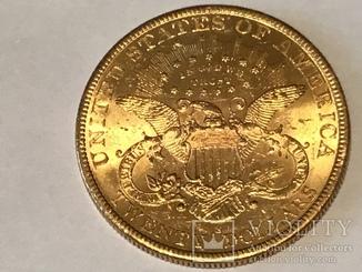 20 долларов сша 1900 г. Золото