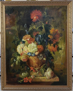 Натюрморт с цветами Ю.Дубинин 1992 г.
